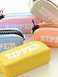 The Large Capacity Big Zipper Canvas Bag Student Pencil-Box Pencil Bags