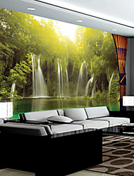 cheap -JAMMORY Large - scale Murals Wall Wallpaper Chinese - style Living Room TV Sofa Background Wall Cloth Landscape Waterfalls Mural XL XXL XXXL