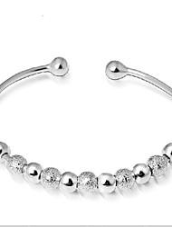 abordables -Femme Manchettes Bracelets Plaqué argent Bijoux Pour Mariage
