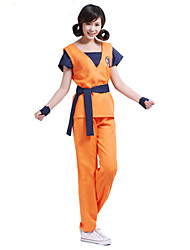 cheap -Inspired by Dragon Ball Son Goku Anime Cosplay Costumes Cosplay Suits Print Short Sleeves Top Pants Belt For Male