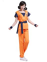 preiswerte -Inspiriert von Dragon Ball Son Goku Anime Cosplay Kostüme Cosplay Kostüme Druck Kurzarm Top Hosen Gürtel Für Mann