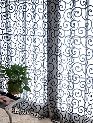 cheap -Rod Pocket One Panel Curtain Country , Print Living Room Polyester Material Curtains Drapes Home Decoration