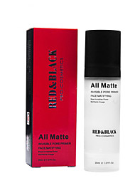 cheap -Red&Black Invisible Pore Primer Face Matifying Makeup Base 30ml