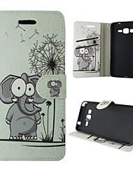 economico -Custodia Per Samsung Galaxy Samsung Galaxy Custodia Porta-carte di credito / Con supporto / Con chiusura magnetica Integrale Elefante pelle sintetica per A5(2016) / A3(2016) / A5