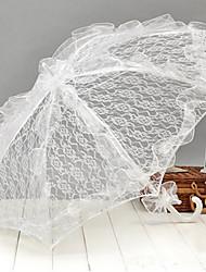abordables -los accesorios de la boda del tema del jardín del paraguas de la boda del cordón blanco