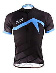 cheap -ILPALADINO Men's Short Sleeve Cycling Jersey - Bule / Black Bike Jersey, Quick Dry, Ultraviolet Resistant, Breathable Polyester