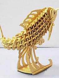 3D-puslespil Puslespil Træpuslespil Legetøj Fisk GDS Stk.