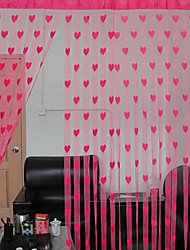 Rod Pocket One Panel Curtain Designer Hearts Living Room Polyester Material Curtains Drapes Home Decoration