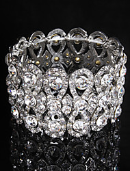 cheap -Women's Chain / Round Bangles Bracelet Alloy Rhinestone Elegant Style