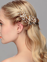 cheap -Pearl Hair Pin Headpiece Wedding Party Elegant Classical Feminine Style