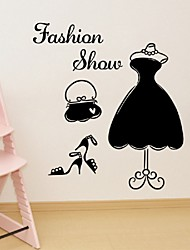 cheap -Fashion Show Wall Sticker Unique Dress Wardrobe Windows Paste Sticker Home Decor Pvc Decorative Wallpaper