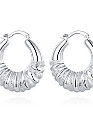 cheap -lureme®Fashion Style 925 Sterling Sliver Twisted Shaped Hoop Earrings