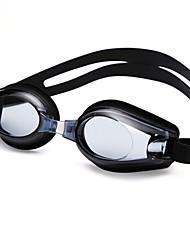 cheap -YUKE Swimming Goggles Women's / Men's / Unisex Anti-Fog / Waterproof / Adjustable Size / Anti-UV / For nearsightedness Silica Gel PCBlack