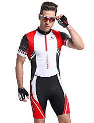cheap -Nuckily Cycling Jersey with Tights Men's Short Sleeves Bike Clothing Suits Anatomic Design Ultraviolet Resistant Moisture Permeability