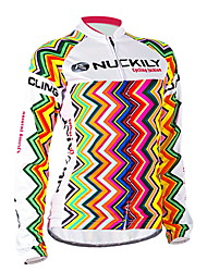 Nuckily Cycling Jersey Women's Long Sleeves Bike Jersey Tops Windproof Anatomic Design Ultraviolet Resistant Moisture Permeability Water