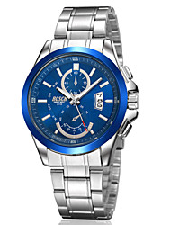 cheap -Men's Japanese Quartz Silver Steel Band Water Resistant Calendar Dress Watch Jewelry Cool Watch Unique Watch
