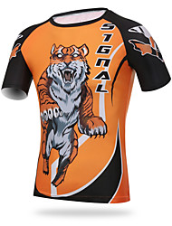 cheap -XINTOWN Men's Short Sleeve Cycling Jersey Tiger Bike Tee / T-shirt Top, Quick Dry Ultraviolet Resistant Breathable, Spring Summer Fall, Elastane Lycra / High Elasticity