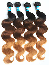 4 Pieces 100g/PieceBody Wave Human Hair Weaves Brazilian Texture Human Hair Weaves Body Wave