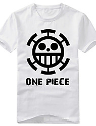 cheap -Inspired by One Piece Trafalgar Law Anime Cosplay Costumes Cosplay T-shirt Print Short Sleeves T-shirt For Unisex