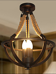 American Bedroom Ceiling Retro LED Rope Simple Aisle Lamp High Quality