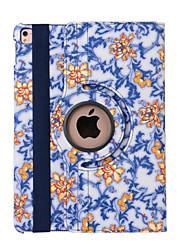 preiswerte -360-Grad-blauen und weißen Porzellan-PU-Leder Flip-Abdeckungsfall für ipad mini 1/2/3 (verschiedene Farben)