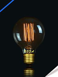 G80 40 w vintage perle verre de tungstène ampoule edison ampoule à incandescence ac 110 v / 220 v 1 pcs
