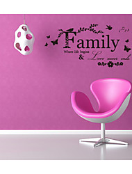 cheap -4116 Family Love Never Ends Quote vinyl Wall Decal Wall Lettering Art Words Wall Sticker Home Decor Wedding Decoration
