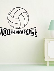 cheap -Sports Wall Sticker Volleyball Vinyl Quotes Home Decor Removable Mural Art Living Room Bedroom Decoration  Wall Decal