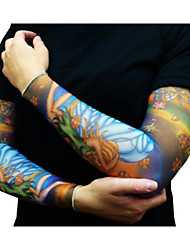 cheap -Pattern / Halloween / Sunscreen Arm Temporary Tattoos 2 pcs Totem Series / Animal Series / Flower Series Body Arts Daily