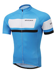 cheap -XINTOWN Men's Short Sleeve Cycling Jersey - Red / Green / Blue Bike Jersey, Quick Dry, Ultraviolet Resistant, Breathable Lycra