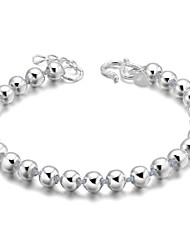 Women's Bracelet Sterling Silver Plated  Sample Lucky Beads Strands Bracelet Wedding for Bride