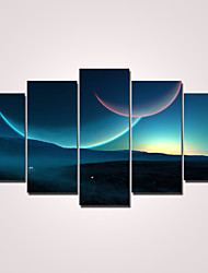 cheap -Stretched Canvas Print Modern Five Panels Horizontal Wall Decor Home Decoration