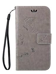 Per Samsung Galaxy Custodia Porta-carte di credito / Con supporto / Con chiusura magnetica / A calamita / Decorazioni in rilievo Custodia