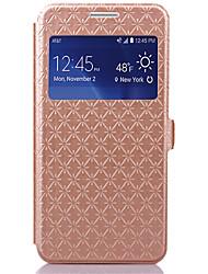 economico -Custodia Per Samsung Galaxy Samsung Galaxy Custodia Porta-carte di credito / Con supporto / Con sportello visore Integrale Geometrica pelle sintetica per Grand Prime