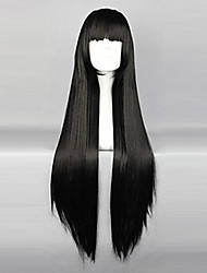 cheap -Cosplay Wigs InuYasha Sango Black Long / Curly Anime Cosplay Wigs 80 CM Heat Resistant Fiber Female