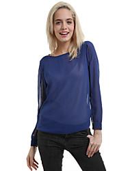 billige -Dame - Ensfarvet Bluse Polyester