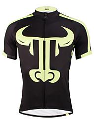 povoljno -ILPALADINO Muškarci Kratkih rukava Biciklistička majica - Crna/žuta Bicikl Biciklistička majica, Quick dry, Ultraviolet Resistant,