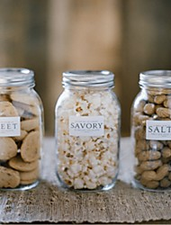Cylinder Glass Favor Holder With Candy Jars and Bottles-1 Wedding Favors