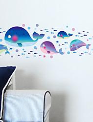 abordables -Paysage Animaux Romance Fantaisie Stickers muraux Autocollants avion Autocollants muraux décoratifs, Vinyle Décoration d'intérieur Calque