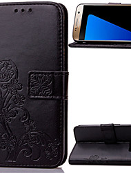 levne -Carcasă Pro Samsung Galaxy Samsung Galaxy Note Peněženka / Pouzdro na karty / se stojánkem Celý kryt Květiny PU kůže pro Note 5 / Note 4 / Note 3