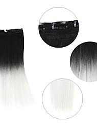"""Недорогие -neitsi® 110г 22 """"полный глава 5clips Kanekalon синтетические части волос клип в / на прямых расширений T-белый #"""