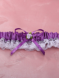 cheap -Garter Lace Polyester Flower Lace Purple Wedding Accessories Beautiful