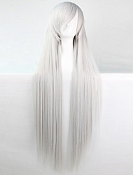 Anime Cosplay Wigs Silver-White 100 CM Long Straight Hair High Temperature Wire
