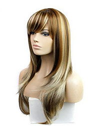 cheap -The New COS Anime Wig Arown Dyed Polyester Mixed Color Long Straight Hair Wig