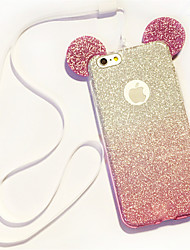 cheap -Lanyard Gradient Glitter Mickey Ears TPU Phone Case For iPhone 5/5S/SE