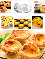 cheap -Disposable Aluminum Foil Cups Baking Bake Muffin Cupcake Tin Mold Round,Set of 50