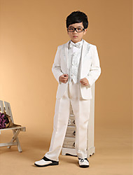 cheap -Gold Silver Cotton Ring Bearer Suit - Six-piece Suit Includes  Jacket Waist cummerbund Vest Shirt Pants Bow Tie