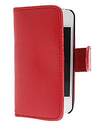 abordables -caso elegante de cuero de la PU para el iphone 4 y 4s