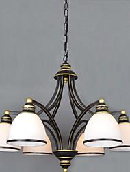 preiswerte -Retro Kronleuchter Für Wohnzimmer Schlafzimmer Esszimmer Studierzimmer/Büro AC 100-240V Glühbirne nicht inklusive