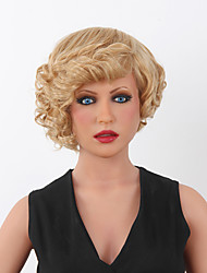 Women's Fashion  mix Short Curly Synthetic wigs for 9 Colors to Choose